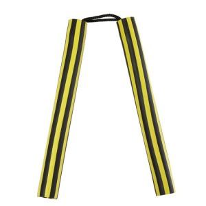 Nunchaku rayé jaune et noir