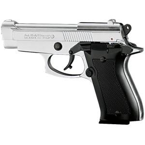 Pistolet de défense à blanc et à gaz KIMAR 85 nickelé Cal.9mm PAK
