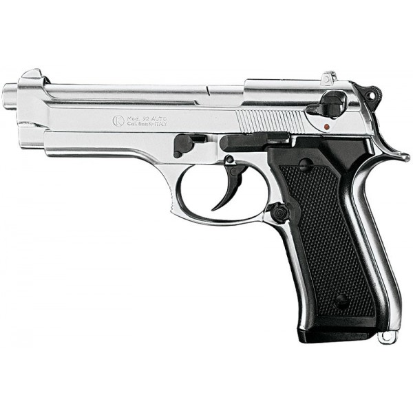 Pistolet de defense KIMAR 92 Nickelé Cal.9mm PAK