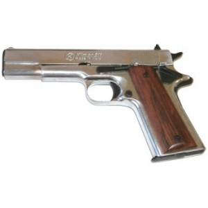 Pistolet de défense à blanc et à gaz KIMAR 911 Nickelé Cal.9mm PAK
