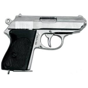 Pistolet allemand SSPPK nickelé