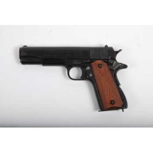 Pistolet DENIX Colt 45  1911, plaque en bois strié