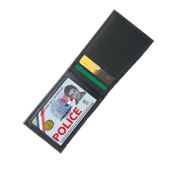 Porte cartes  mini horizontal 2 volets noir Gk4185