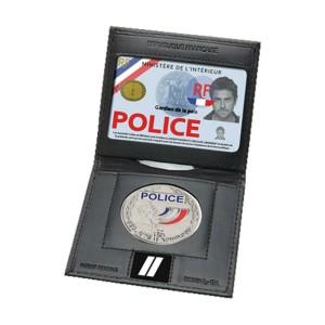 Porte cartes 2 volets avec emplacement grade et médaille