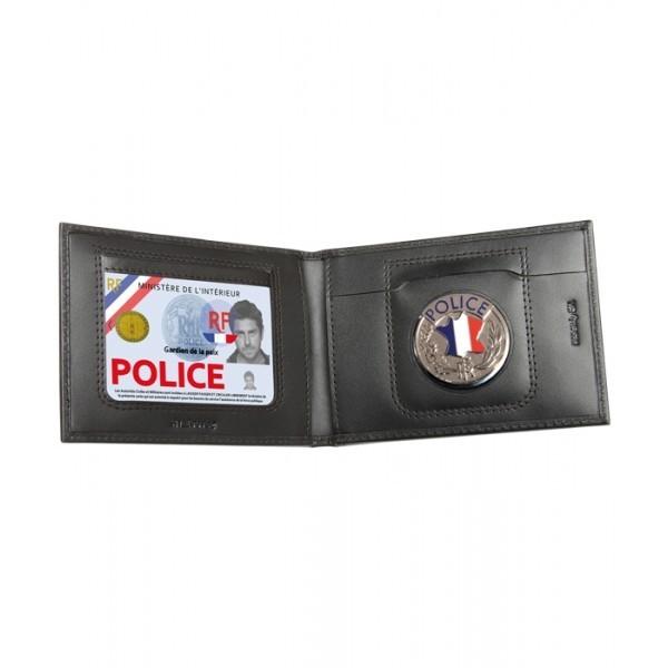 Porte cartes horizontal 2 volets noir -nouvelle carte
