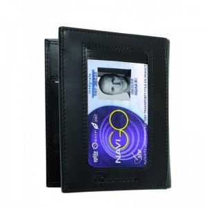 Porte cartes 2 volets noir Gk 4184