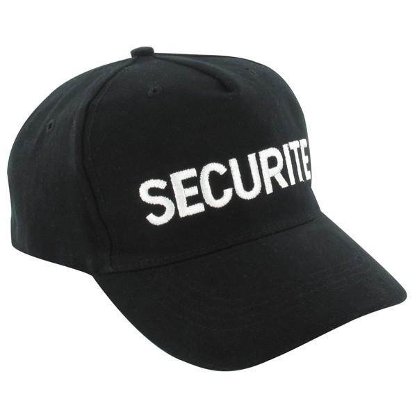 Casquette noire brodée SECURITE