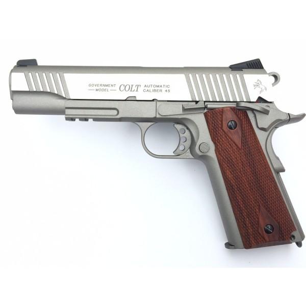 Pistolet COLT GOURVERNMENT stainless