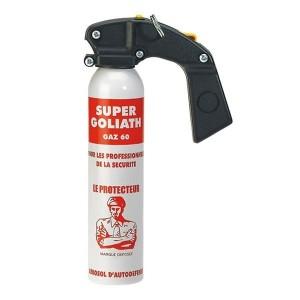 Aérosol de défense gaz CS 60 avec poignée -300 ml