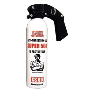 Bombe anti-agression gaz CS - 500 ml