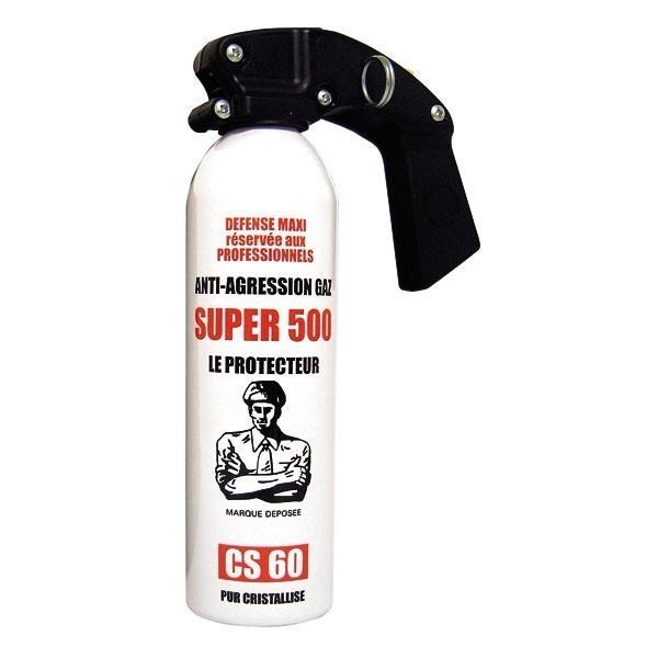 Bombe anti-agression gaz CS - 500 ml