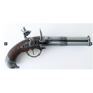 PISTOLET PIRATE  3 CANON FINITION GRIS