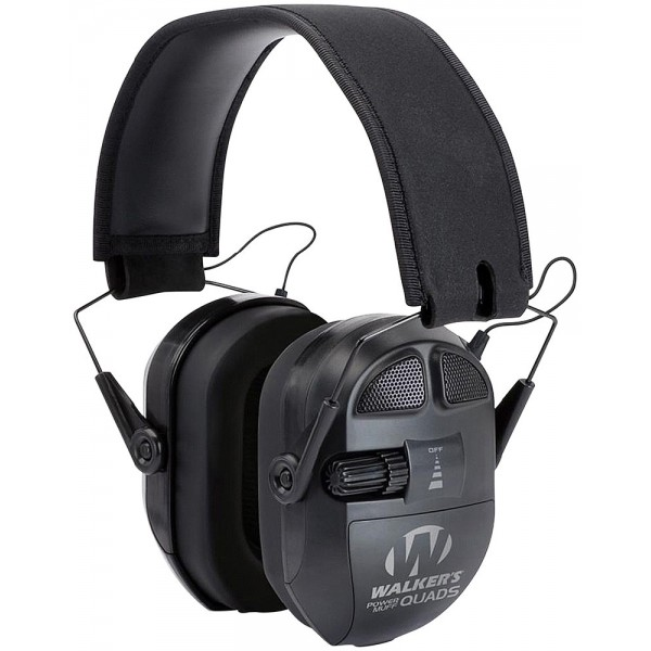 CASQUE ÉLECTRONIQUE WALKER'S ULTIMATE POWER MUFF QUADS NOIR