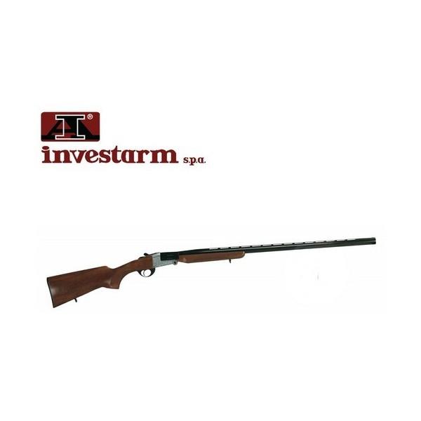 Fusil Investarm 80 LS mono coup calibre 12 /76 -extracteur-Bois -bande ventilée