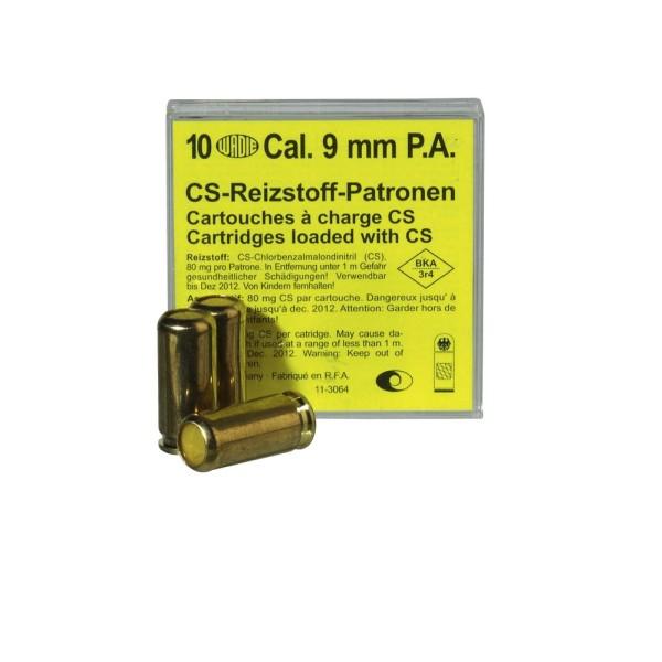 Munitions à GAZ CS pour pistolet auto calibre 9 mm PA, 10 unités