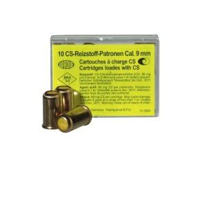 Munitions à GAZ CS pour révolvers calibre 9 mm R, 10 unités