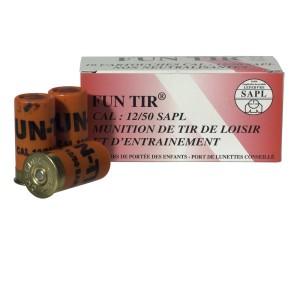 10 munitions gomm cogne balles de caoutchouc cal. 12/50