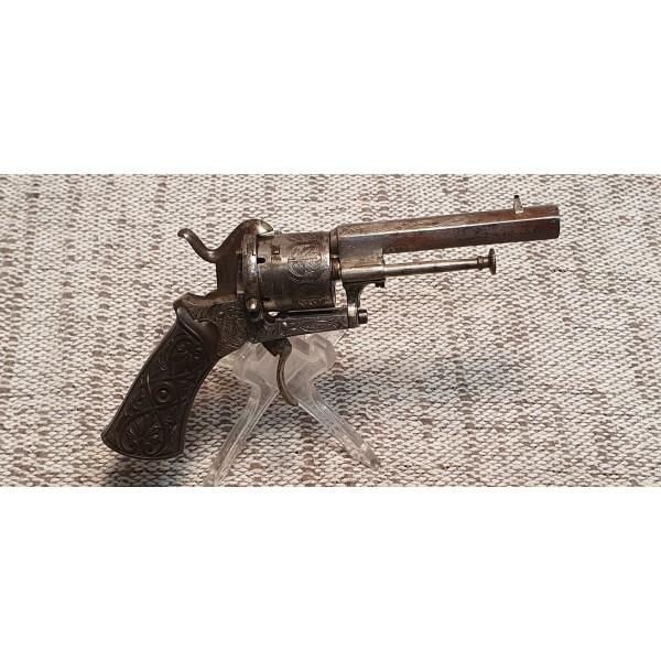 revolver a broche liege type lefaucheux 6 coups calibre 7mm