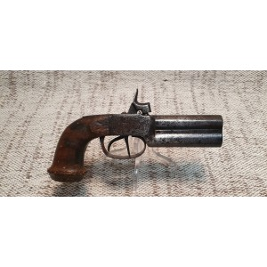 pistolet a coffre superpose cal 12 mm double detente percussion a chien