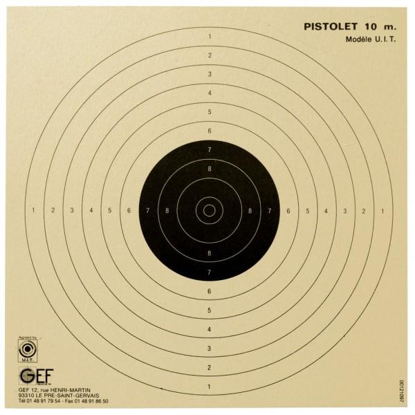 Cible Pistolet 10 M , 100 cibles