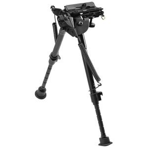Bipied métallique, télescopique, hauteur ajustable : 22,86 à 33,02 cm