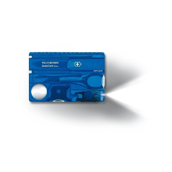 SWISSCARD LITE VICTORINOX bleu translucide