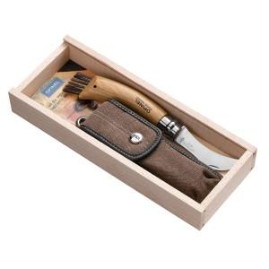 Couteau à champignon OPINEL, plumier avec étui, manche en chêne