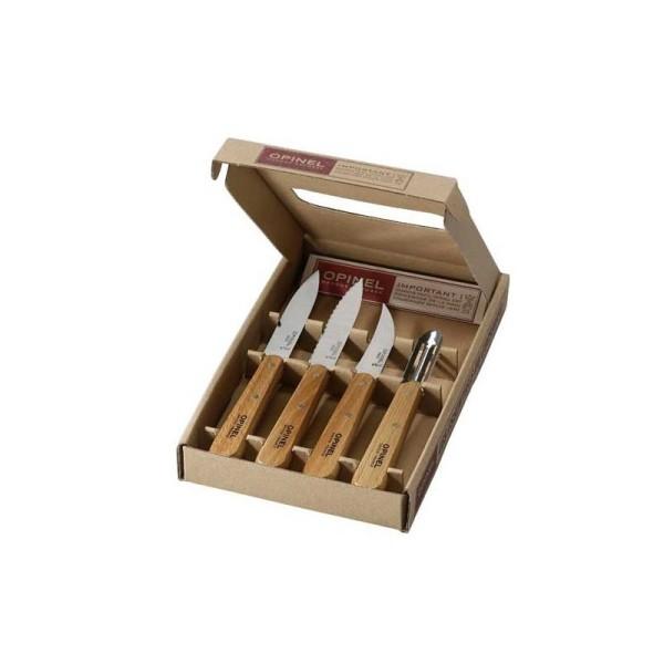 Coffret les essentiels, 4 couteaux  OPINEL, vernis naturel : N°112, N° 113, N°114 , N°115