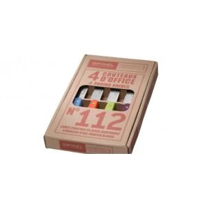 Coffret de 4 couteaux OPINEL N° 112, coloris acidulés