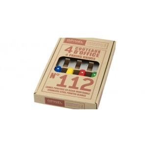 Coffret de 4 couteaux OPINEL N° 112, coloris classique