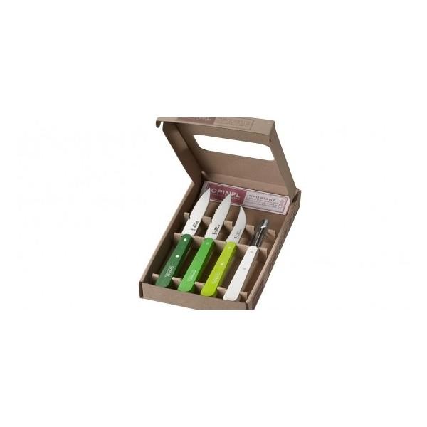 Coffret les essentiels, 4 couteaux  OPINEL, PRIMAVERA: N°112, N° 113, N°114 , N°118