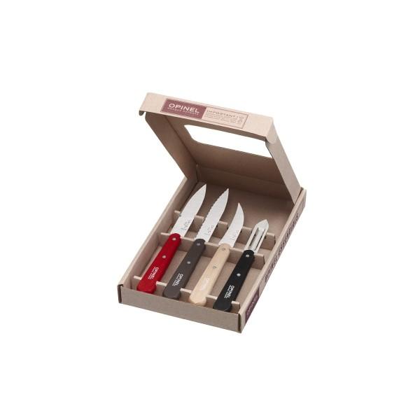 Coffret les essentiels, 4 couteaux  OPINEL, LOFT: N°112, N° 113, N°114 , N°117