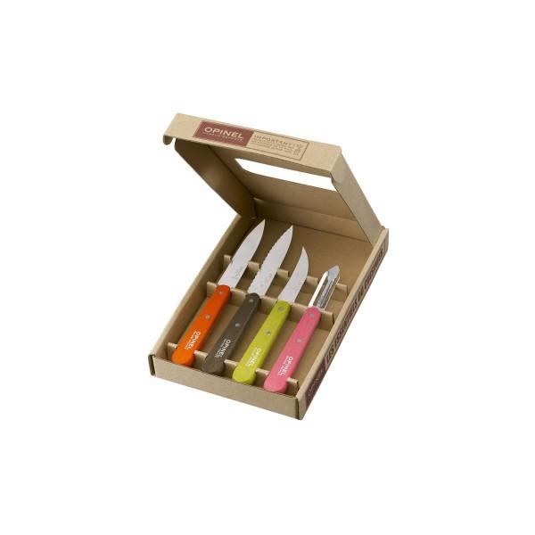 Coffret les essentiels, 4 couteaux  OPINEL, coloris FIFTIES: N°112, N° 113, N°114 , N°116